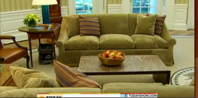 Video Pix Oval Office Redecoration And A Bungled Rug